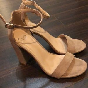 A New Day Nude Suede Heels